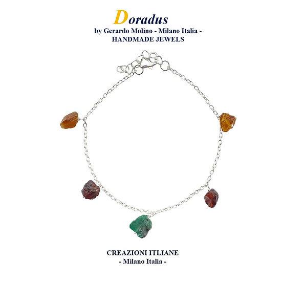 Bracciale in Argento 925 Smeraldo
