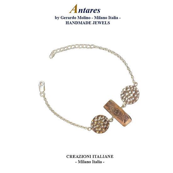 "Bracciale ""Antares"" in Ag 925 con Quarzo Rosa"