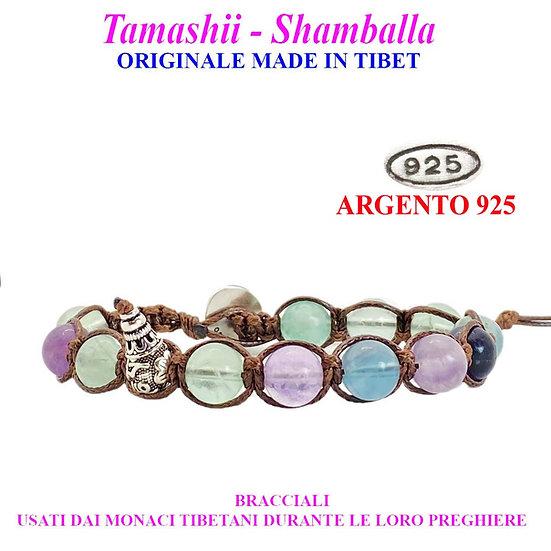 Bracciale Tamashii-Shamballa Fluorite