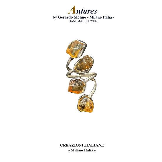 """Anello """"Antares"""" in Ag 925 con Quarzo Citrino"""