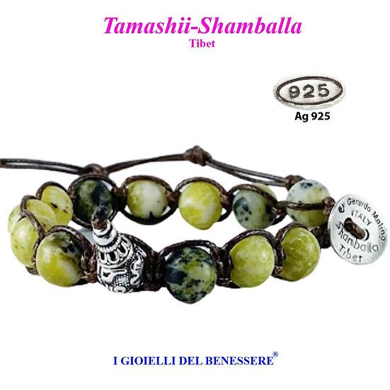 Bracciale Tamashii-Shamballa Turchese Erba