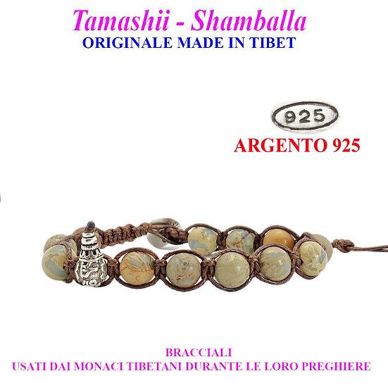 Bracciale Tamashii-Shamballa Diaspro Africano