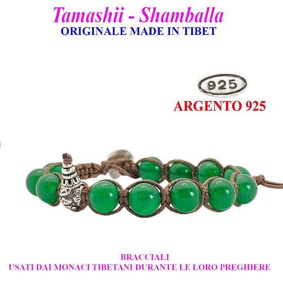 Bracciale Tamashii-Shamballa Giada Verde