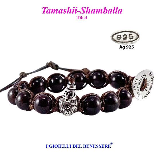Bracciale Tamashii-Shamballa Granato
