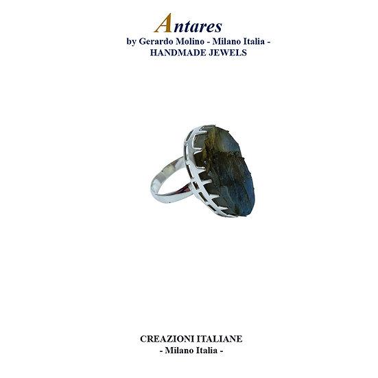 """Anello """"Antares"""" in Ag 925 con Labradorite"""