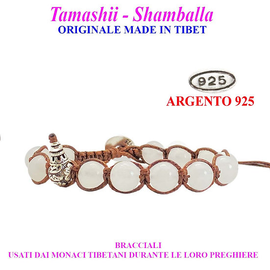 Bracciale Tamashii-Shamballa Agata Bianca