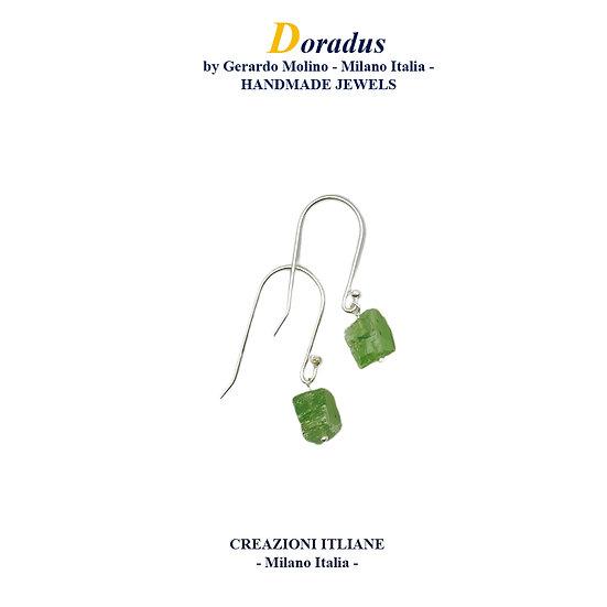 Orecchini in Argento 925 con Cianite Verde