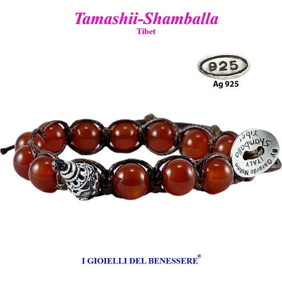 Bracciale Tamashii-Shamballa Corniola