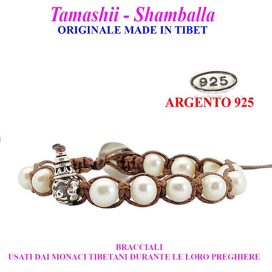 Bracciale Tamashii-Shamballa Perla Naturale