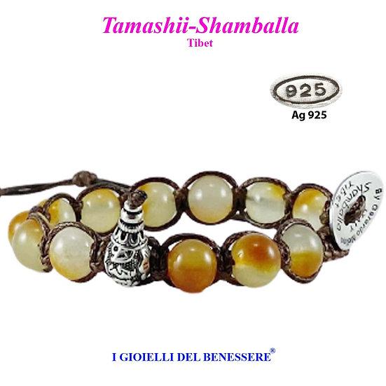 Bracciale Tamashii-Shamballa Giada Arancio
