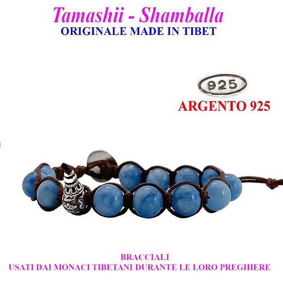 Bracciale Tamashii-Shamballa Agata Sky