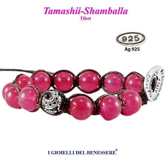 Bracciale Tamashii-Shamballa Agata Rossa
