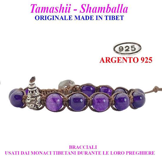 Bracciale Tamashii-Shamballa Agata Viola