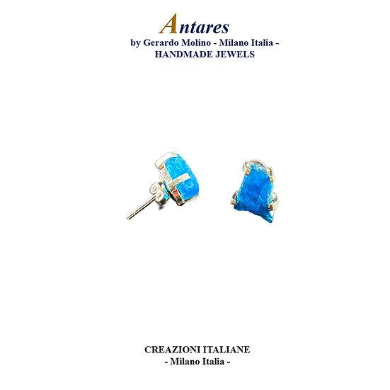 """Orecchini """"Antares"""" in Ag 925 con Apatite Neon"""