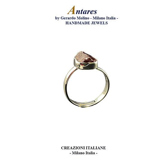 """Anello """"Antares"""" in Ag 925 con Granato"""