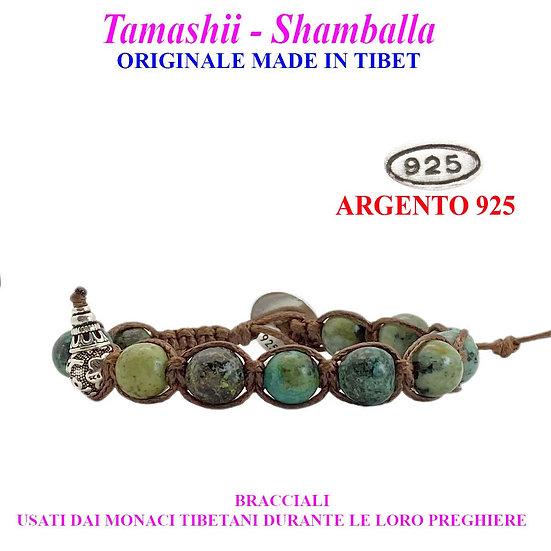 Bracciale Tamashii-Shamballa Turchese Africano