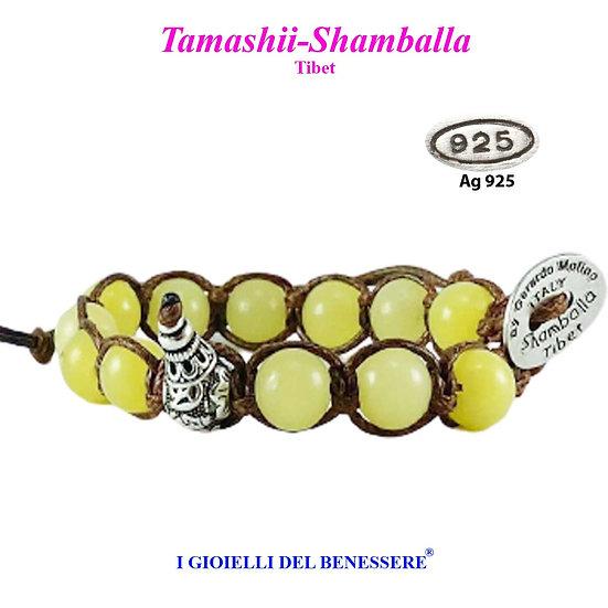 Bracciale Tamashii-Shamballa Agata Giallo Scuro