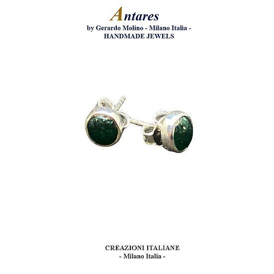 """Orecchini """"Antares"""" in Ag 925 con Avventurina"""