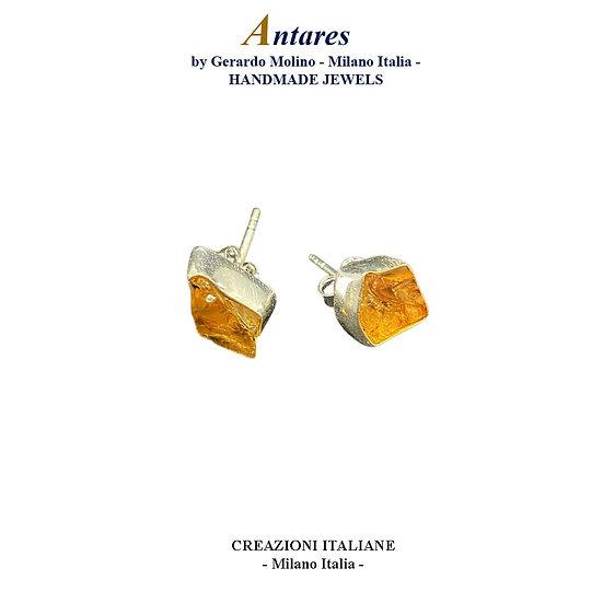 """Orecchini """"Antares"""" in Ag 925 con Quarzo Citrino"""