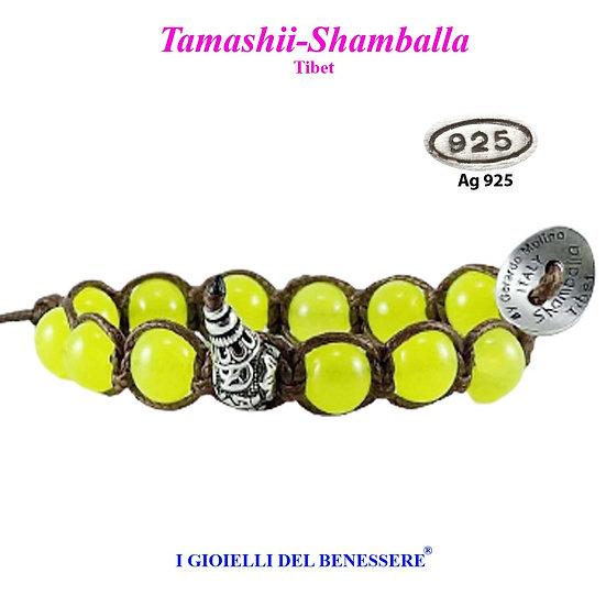 Bracciale Tamashii-Shamballa Giada Verde Lime