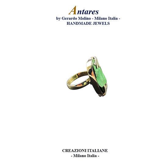 "Anello ""Antares"" in Ag 925 con Malachite"