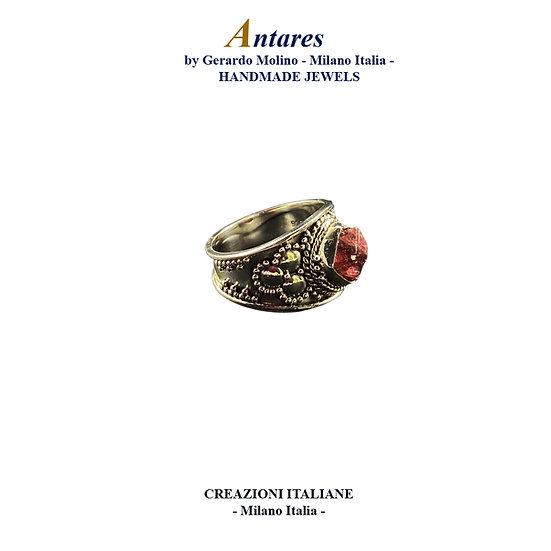 """Anello """"Antares"""" in Ag 925 con Tormalina Rosa"""