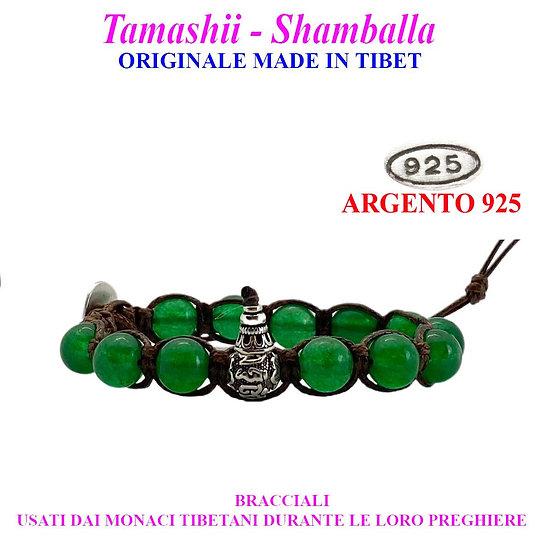 Bracciale Tamashii-Shamballa Agata Verde