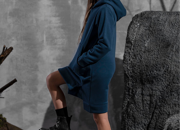 "Navy blue Dress with hood  ""Mash mnie"""