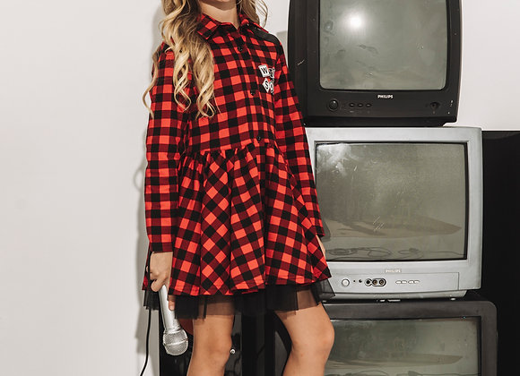 """Red and black checkered dress """"Wild Soul"""""""