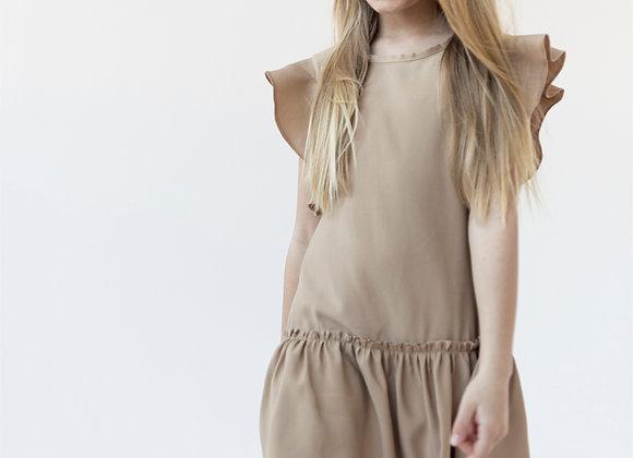 BEIGE DRESS BUTTERFLY