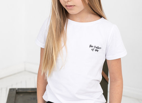 "WHITE T-SHIRT ""THE FUTURE IS NOW"""