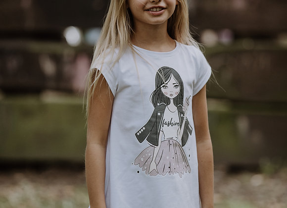 White Tunic T-shirt with dolly