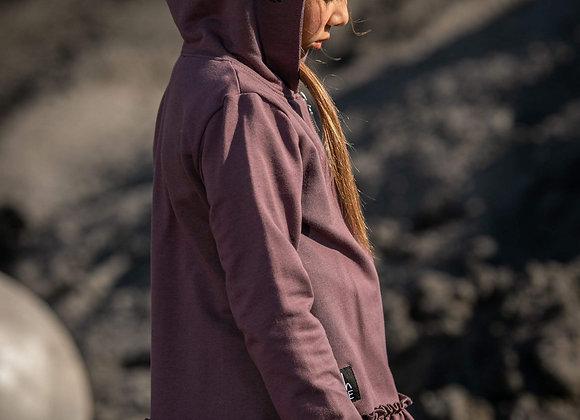 Purple Hoodie, zip Revolution