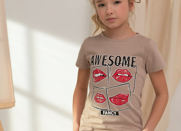BEIGE T-SHIRT AWESOME