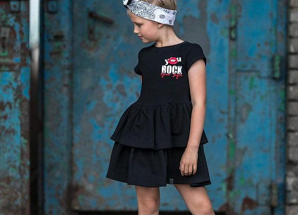 """Black dress """"You Rock"""""""