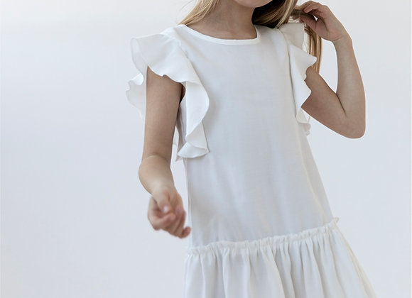 WHITE DRESS BUTTERFLY
