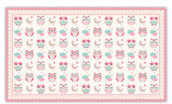 Owls Texture Pink