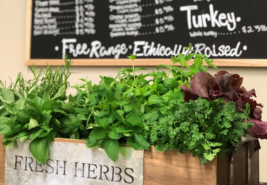 fresh and dried herbs from Lower Shannon Farms