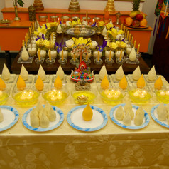 Offerings to Buddha's Bone Relics