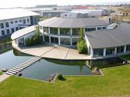 Funke Dorsten, Bauantrag, Ausführung, Architektur Dorsten, Verwaltungsgebäude in Meckenheim Nebengebäude als Werks- und Lagerhallen