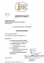 RC3 Zertifikat Zachert Hinterberger Bankenplanung Sicherheit Innenarchitektur