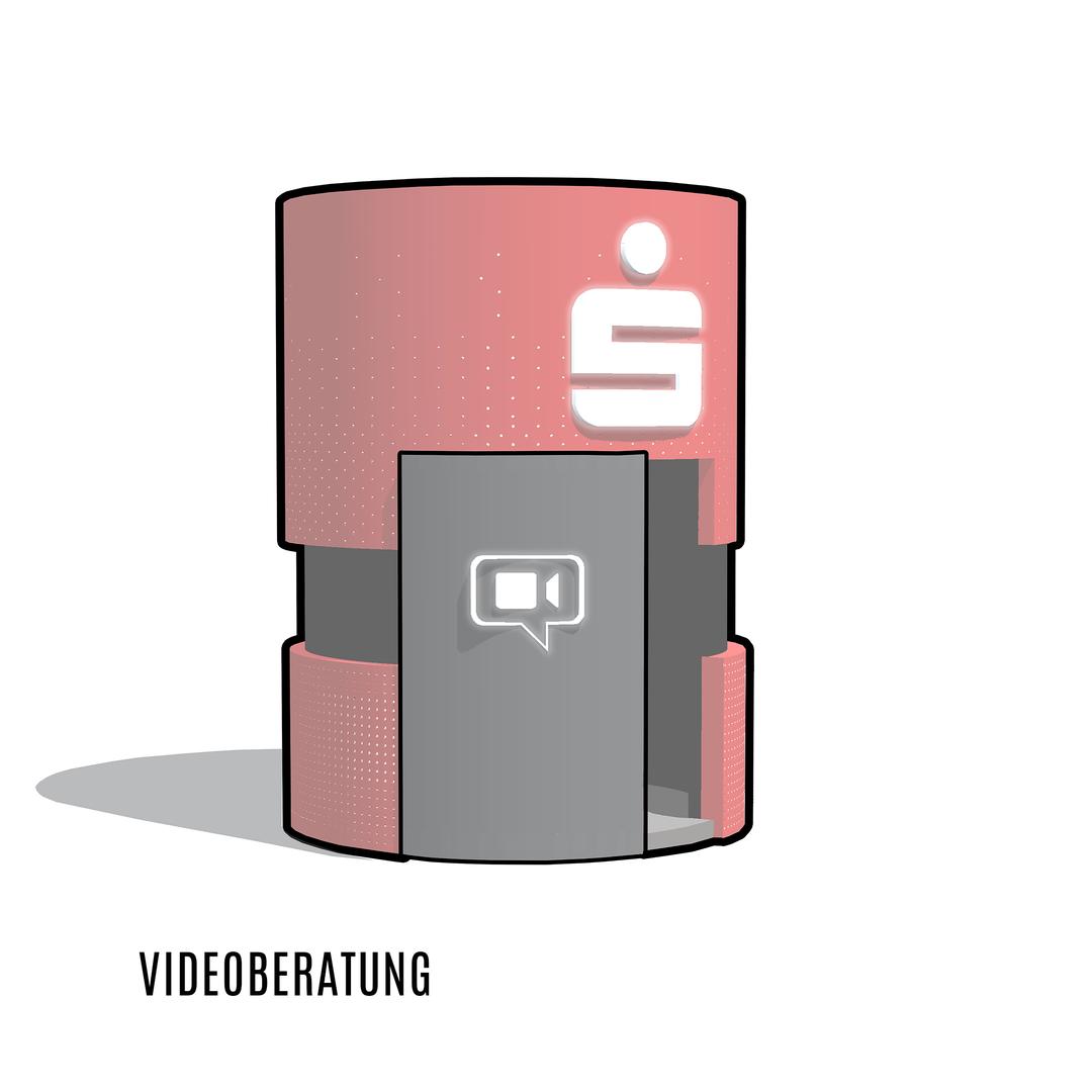 Videoberatung, flexibel aufstellbar, Banken Architektur