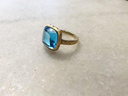 #90 Blue topaz diamond gold ring .jpeg