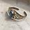 Thumbnail: Rainbow moonstone silver cuff bracelet