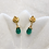 Thumbnail: Emerald gold post earrings