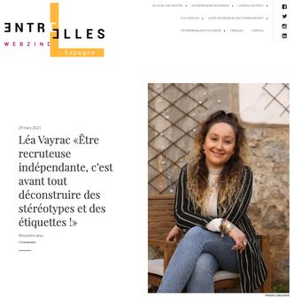Interview Entre Elles Webzine Espagne
