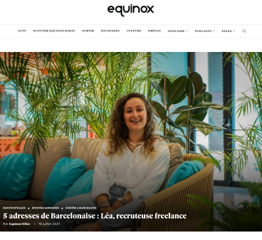 5 adresses de Barcelonaise : Léa, recruteuse freelance