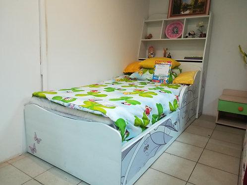 """Кровать """"Леди 3"""" + стеллаж с ящиком"""