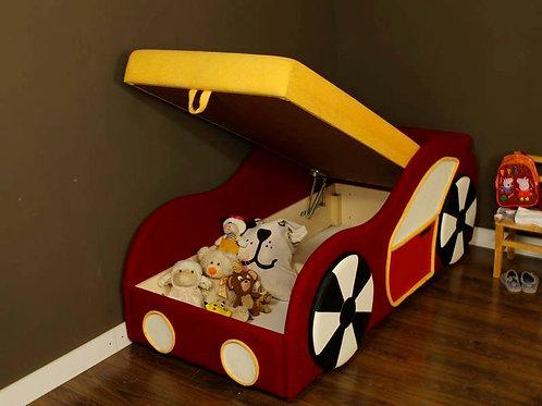Детский диван-кровать «Машинка» с ящиком для белья
