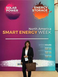 Carol Ann Wentworth at the annual Solar Power International Convention Anaheim, CA